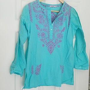 Calypso Embroidered Tunic